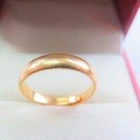 999 24 К кольцо из желтого золота повезло широкий гладкой Регулируемые кольца 4.7-5 г