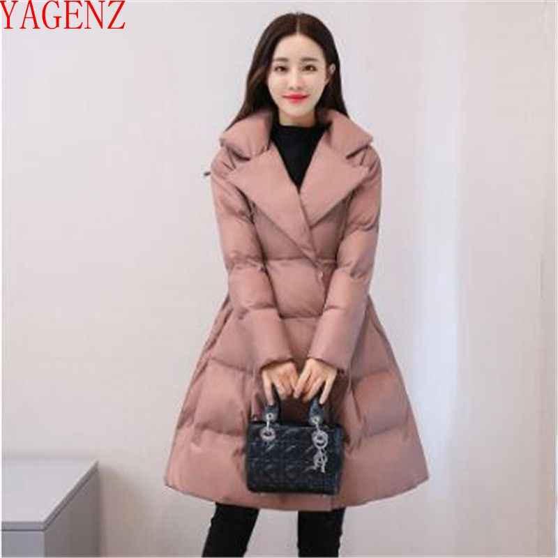 Женское базовое пальто высококлассные женские зимние куртки пальто новый продукт Корея пуховик пальто большой размер утолщение элегантный хлопок 895