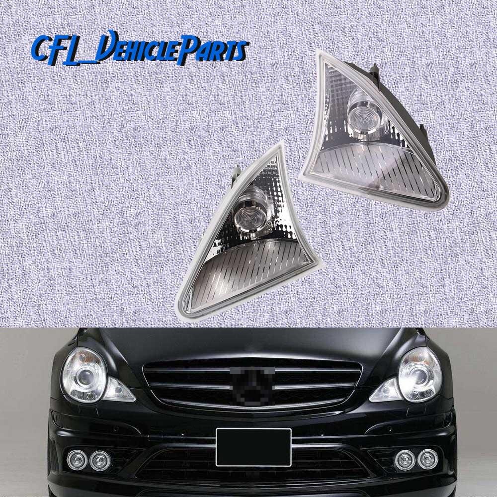 Pair L R Position Lights Front Parking Lamps NO Bulb 2518200956 2518201056 For Mercedes Benz W251