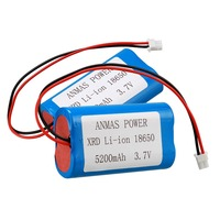 2 pack 3 7 V XRD Li-Ion 18650 5200MA Akku lautsprecher verstärker batterie Digital/Power akku