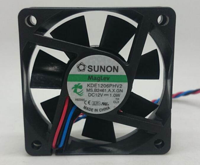 SUNON 6015 вентилятор 1 Вт 6 см 12 в Ультра тихий вентилятор охлаждения KDE1206PHV2