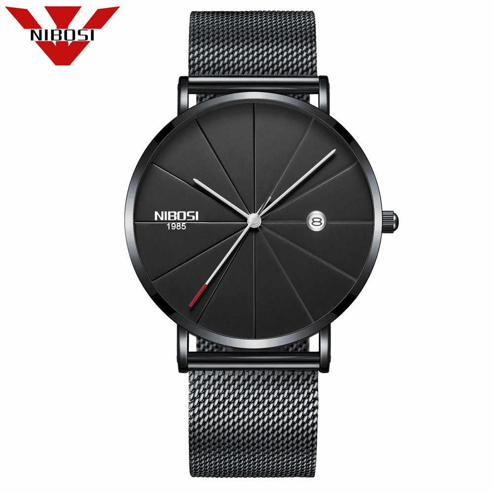 d642175b4 ... Nibosi Top marca de lujo cuarzo reloj hombres Japón reloj de cuarzo  Acero inoxidable correa de ...