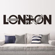 Modern London Words Quotes Wall Sticker Home Decor Vinyl Decals  Living Room Mural Fashion Wallpaper ES-103