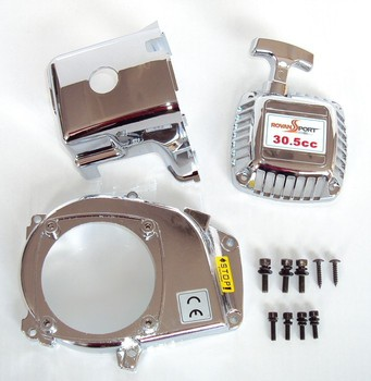 Chrome engine kit pull starter cylinder cover side cover screws