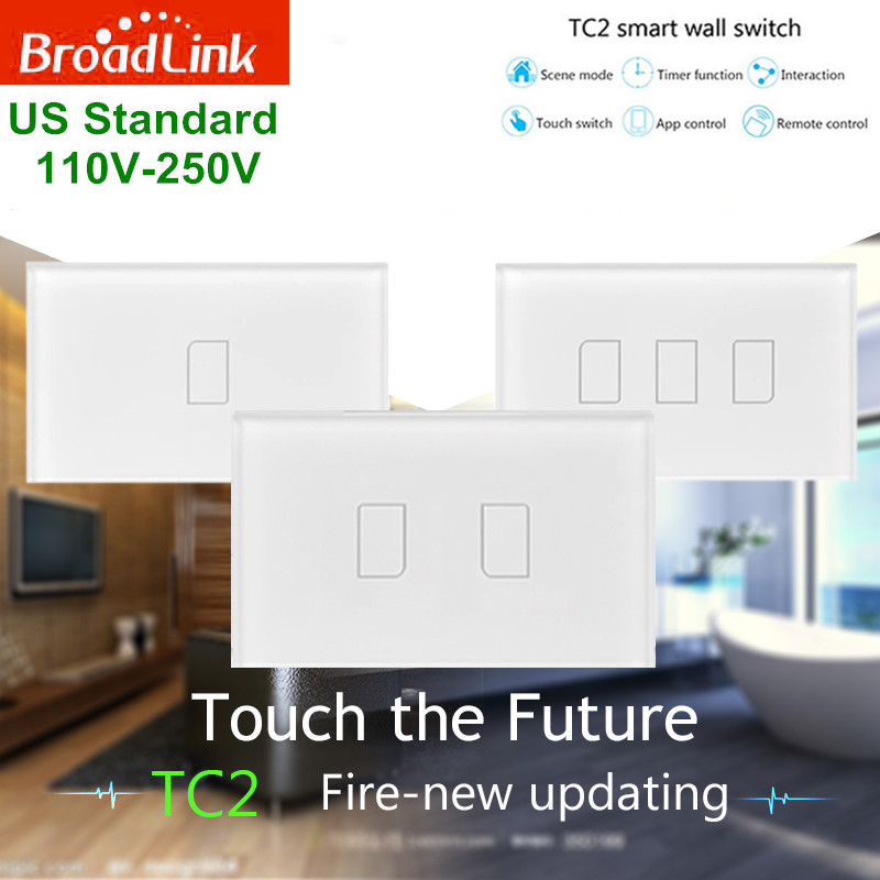 New Broadlink TC2,AU US Standard,1- 2- 3- option,smart home Automation,phone Remote wireless remote control lamps light Switch