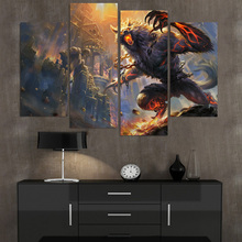 Wall Art Canvas Painting Werewolf Castle HD Printed 4 Pieces Poster Room  Decor Pictures For Living Room Free Shipping XA440C Part 90