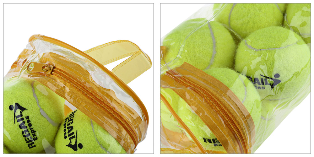 12pcs/Lot High Quality Elasticity Tennis Ball for Training Sport Rubber Woolen Tennis Balls for tennis practice with free Bag