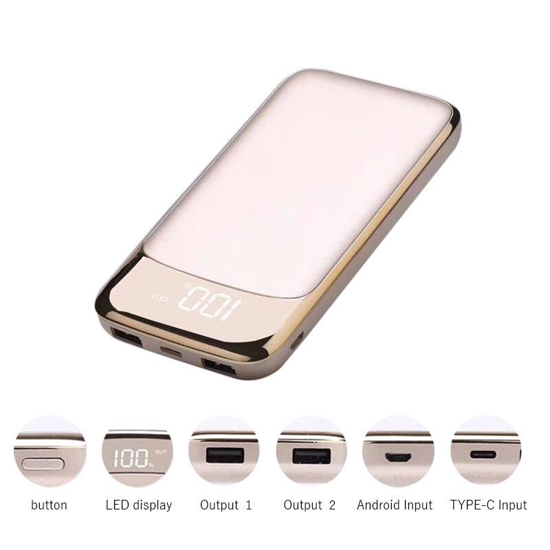 20000 mah 18650 Accumulatori e caricabatterie di riserva Batteria Esterna Portatile del Caricatore Del Telefono Mobile Universale Dual USB Powerbank per Telefoni cellulari e Smartphone Compresse