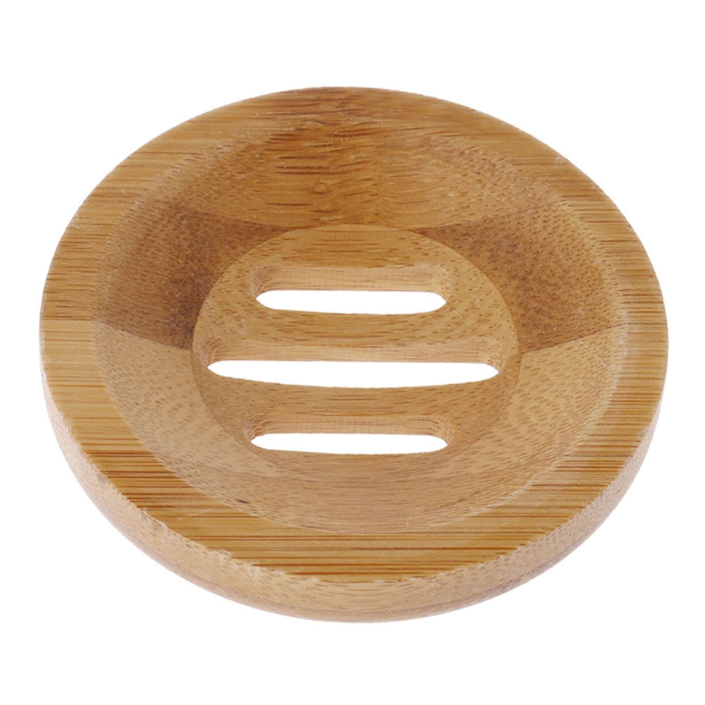 1 Pc Natural Wood Soap Tray Holder Round Shape Container Storage Bathroom Stand Rack Dropshipping Whosesale