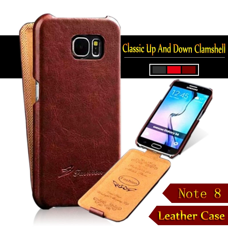 For Samsung Galaxy Note 8 6 3inch Top Quality Fashion Retro Vintage Vertical Flip Up Down