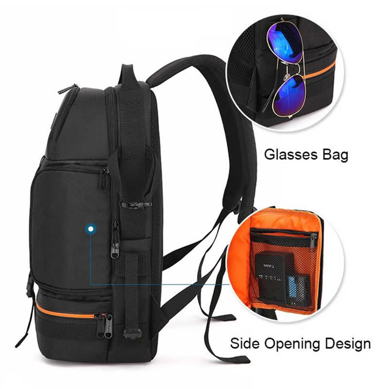 Tas Kamera Outdoor Perjalanan SLR Foto Ransel Tahan Air Oxford Kain Kamera Bahu Tas untuk Canon 5D 7D Nikon D3400 Sony a6000