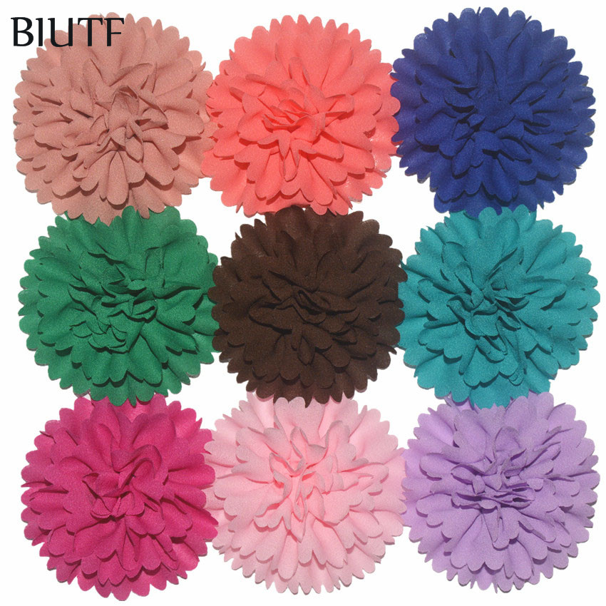 200pcs lot Wholesale Supply 3 Chiffon Fabric Ballerina Flowers DIY Weddings Garment Boutique Hair Accessories 30
