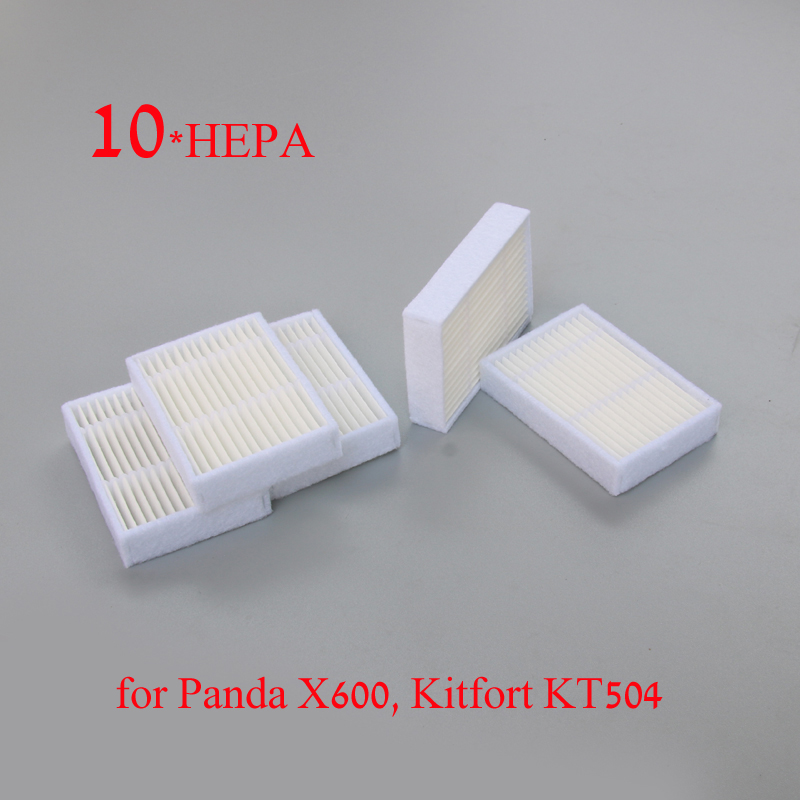 10pcs High Quality Replacement Hepa Filter For Panda X600 Pet Kitfort Kt504 For Robotic Robot Vacuum Cleaner Accessories/ Parts Cleaning Appliance Parts Home Appliances