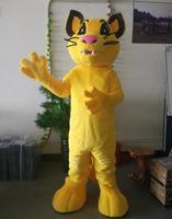 الصورة الفعلية ohlees الأصفر النمر التميمة هالوين الحزب نشاط الهوى عيد الكبار الحجم