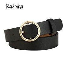 Badinka New Gold Round Metal Circle font b Belt b font font b Female b font