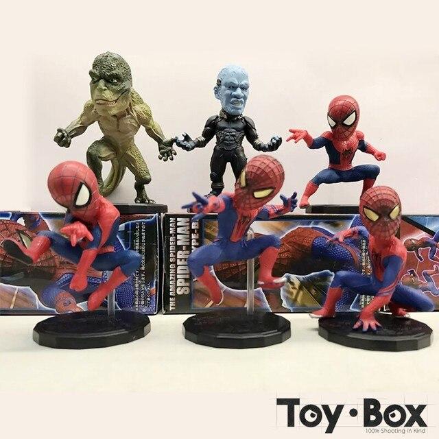 Filme The Amazing Spider Man The Lizard Dr. Curt Connors Max Dillon Electro 2 Caricatura Brinquedos figuras de Ação Do Homem Aranha Figura Modelo Boneca de Presente