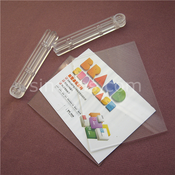 adjustable acrylic advertising display clear plexi plastic frame tags cards tickets posters signs holder brand glass showcase