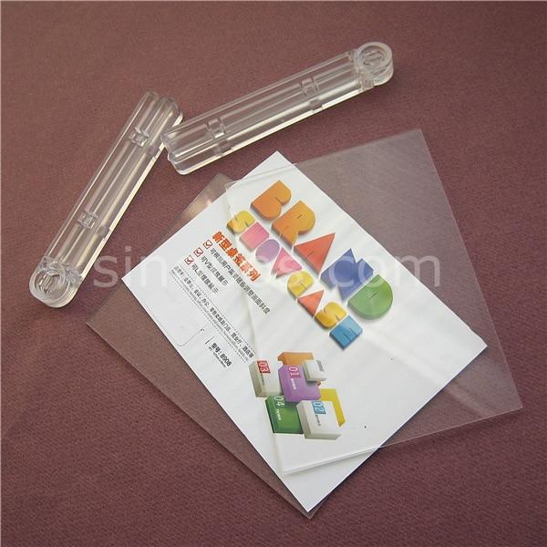 Adjustable Acrylic Advertising Display, clear plexi plastic frame ...