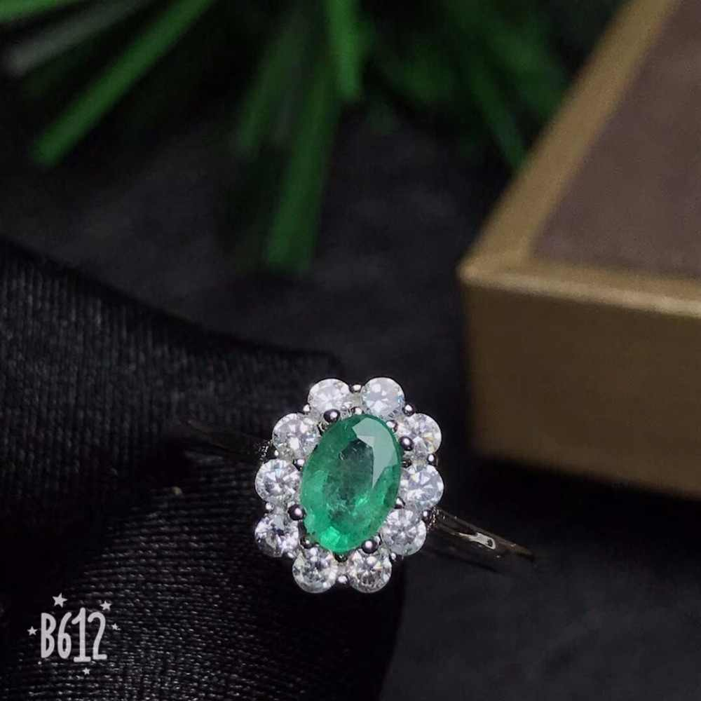 Shop promotion specials, natural emerald ring, clearance, 925 silver, size can be customized
