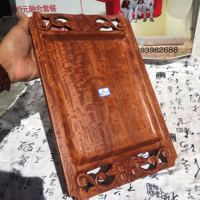 Myanmar Huali wood old material water corrugated tray fruit tray tea tray hand carved antique patina