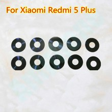 купить New 2PCS Rear Back Main Camera Glass Lens Fro Xiaomi Redmi 5 Plus Spare Parts Lens Cover Replacement Free shipping дешево