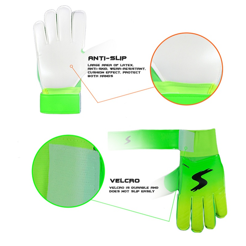 Neue Knochen Knuckle PU <font><b>Latex</b></font> Fußball Handschuhe Torwart Handschuhe Fußball Handschuhe image