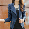 womens winter jackets and coats suede Slim PU leather motorcycle jacket women Turn-Down Collar Solid Brand faux leather jackets
