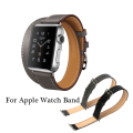 The Extra Long Genuine Leather Strap For Apple Watch Band Double Tour Bracelet Leather Watchband 38mm and 42mm Available
