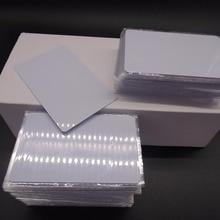 1000 개/몫 Mi fare1k s50 13.56MHZ F08 IC NFC 태그 흰색 카드 액세스 제어 DHL 무료 배송