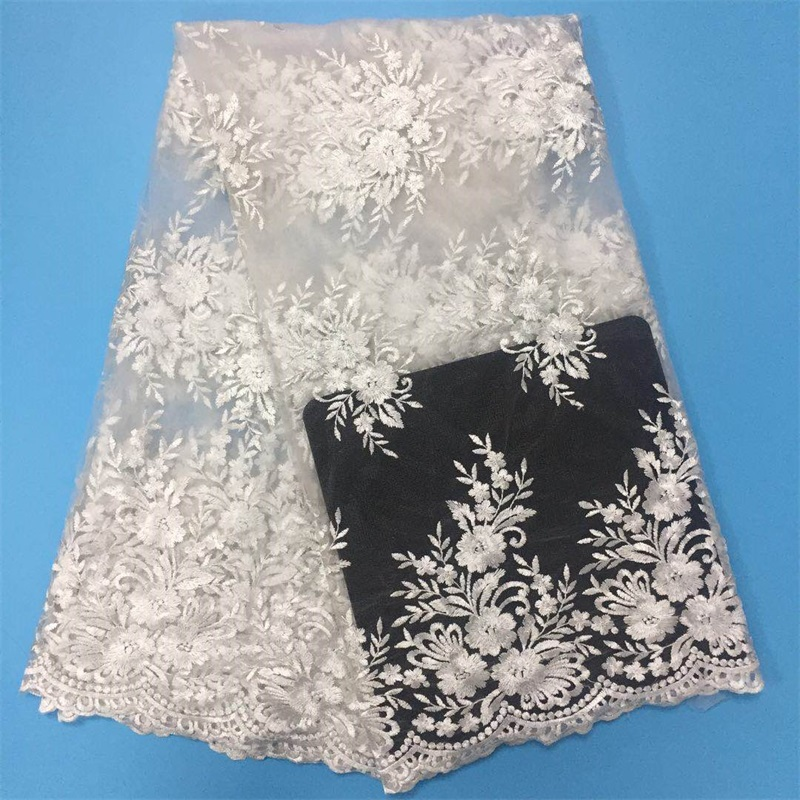 5 yards lot french net lace lace fabric for wedding high quality African lace fabric for
