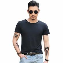BTFCL  Summer Slimfit Streetwear O Neck T Shirt Men Casual Fitness Tops&Tees Vintage Short Sleeve Solid Homme Camiseta Masculina