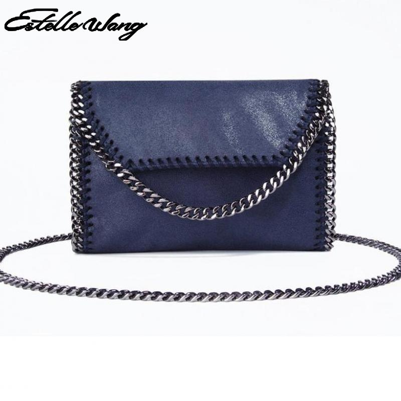 Estelle Wang Small Chain Bag Women's Import Pvc Leather Shoulder Bags  Ladies Flap Bags Envelope Clutches  Bags For Women 2017