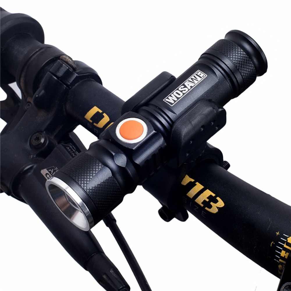 Wosawe велосипед свет Ультра-яркий стрейч зум T6 200 м велосипедный передний светодиодный фонарик лампа USB Перезаряжаемый Велосипедный свет