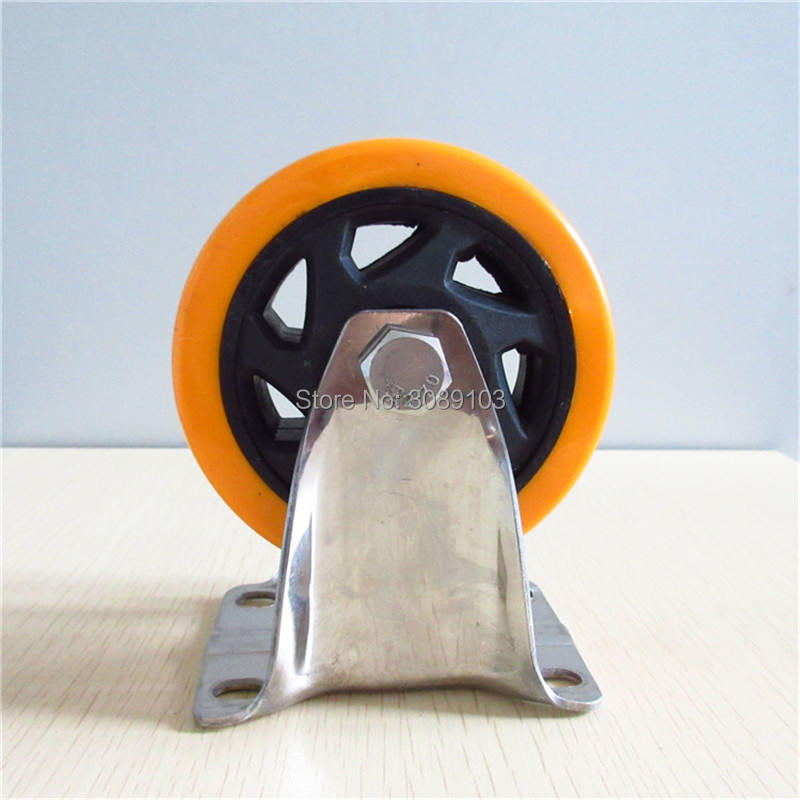 hot 4 inch Pvc 304 Stainless steel caster wheel Medium Duty Fixed Caster