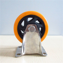 hot 4 inch Pvc 304 Stainless steel caster wheel Medium Duty Fixed Caster  цены