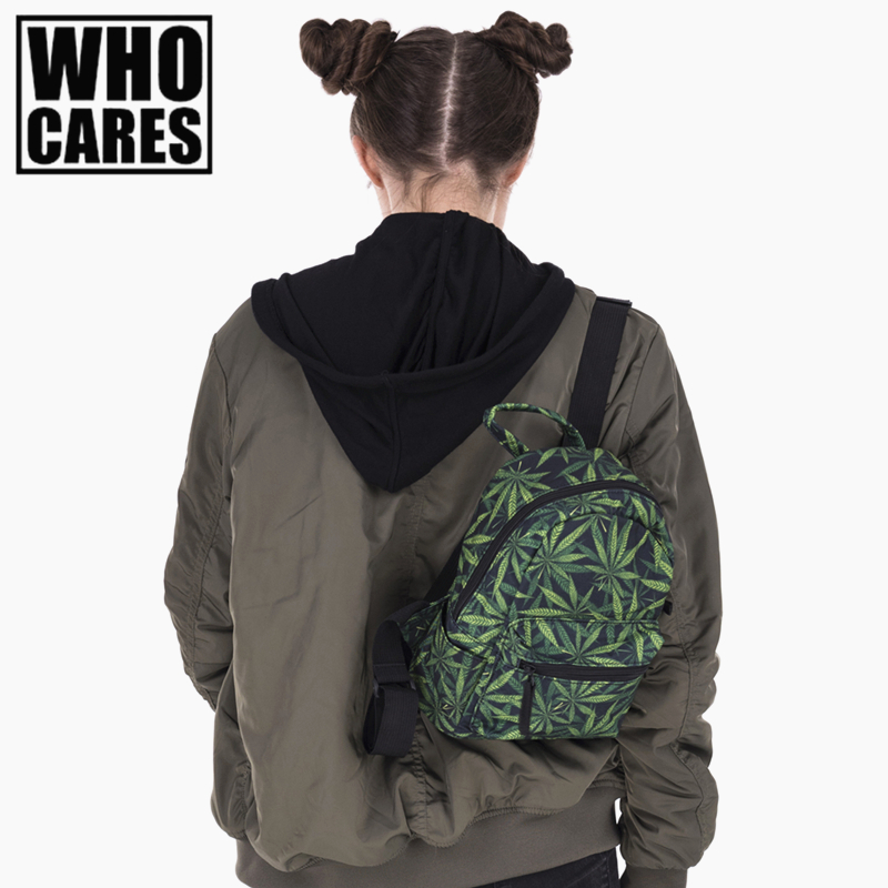 Ganja weed 3D printing mini backpack women mochila masculina 2017 Fashion New canvas backpacks For Teenagers Girls school bags men backpack student school bag for teenager boys large capacity trip backpacks laptop backpack for 15 inches mochila masculina