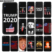 WEBBEDEPP Donald Trump Cool Soft Silicone Case for Apple iPhone 11 Pro Xr Xs Max X or 10 8 7 6 6S Plus 5 5S SE TPU