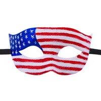 2017 Popolare Glitter Paese Nazionale Bandiera Eventi Festa di Halloween Maschera Maschere Mascherata Patriottica Super Eroe di Travestimento di Ballo