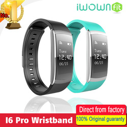 New IWOWN IWOWNFIT I6 PRO Smart Wristband Heart Rate Monitor IP67 Waterproof Smart Bracelet Fitness Tracker support Andriod IOS