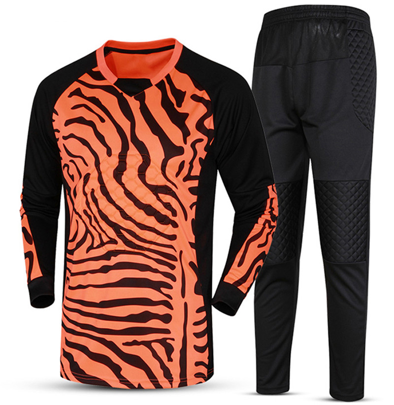 Adult Football Jerseys Goal Keeper Jersey Sponge Protector Long Sleeve  Professional Goalkeeper Shirt Uniform on Aliexpress.com  6747fb211