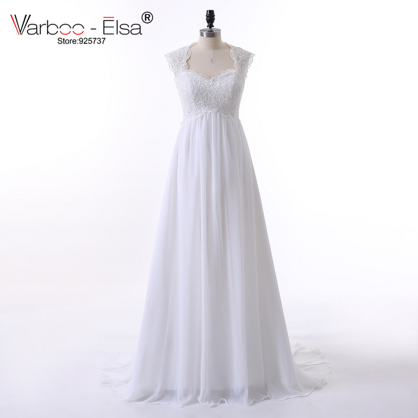 Vintage Wedding Dress Beach Chiffon A Line Empire Waist