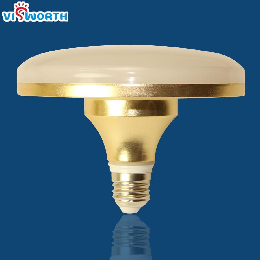E27 umbrella bulb 24w 36w led bulb Golden aluminum shell led lamp ac 110v 220v 240v led light smd5730 warm/cold white light