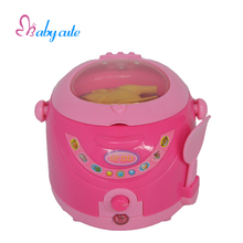 Children Mini Household Electric Rice Cooker Toy Pink Kitchen Pretend Play  Toys With Light & Simulation Chicken Birthday Gifts