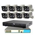 8CH POE Sicherheit System 1080 p 8ch NVR + 8ch PoE Schalter + 2MP Outdoor POE IP Kamera Überwachung System IR Nachtsicht-in Überwachungssystem aus Sicherheit und Schutz bei