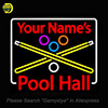 Neon Sign For Your Name S Pool Hall Unique Neon Sign Art Handcrafted Supplied For A