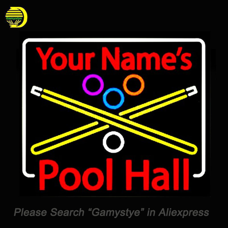 Neon Sign For Your Names Pool Hall unique neon sign art Handcrafted supplied for a wide range of Game Room Display Decorate