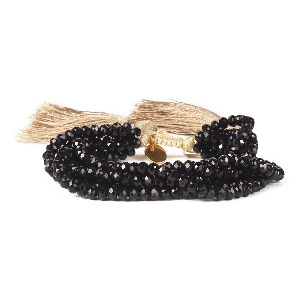 Tassel New Miyuki Beaded Bracelets Woven Crystal Gold Black Charm Bracelets Fashion Bohe Hot sell Jewelry Gift women girls(China)