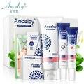 Ancolcy Face Acne Black Head Pimple Treatment Cream Blackhead Products A Set 6 PCS Facial Cleaner Korean Face Skin Care Women
