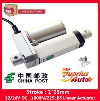 Free Shipping  electric linear actuator with new stent, 1inch/25mm 10mm/s stroke 1000N/225LBS 12V DC mini linear actuatorFree Shipping  electric linear actuator with new stent, 1inch/25mm 10mm/s stroke 1000N/225LBS 12V DC mini linear actuator
