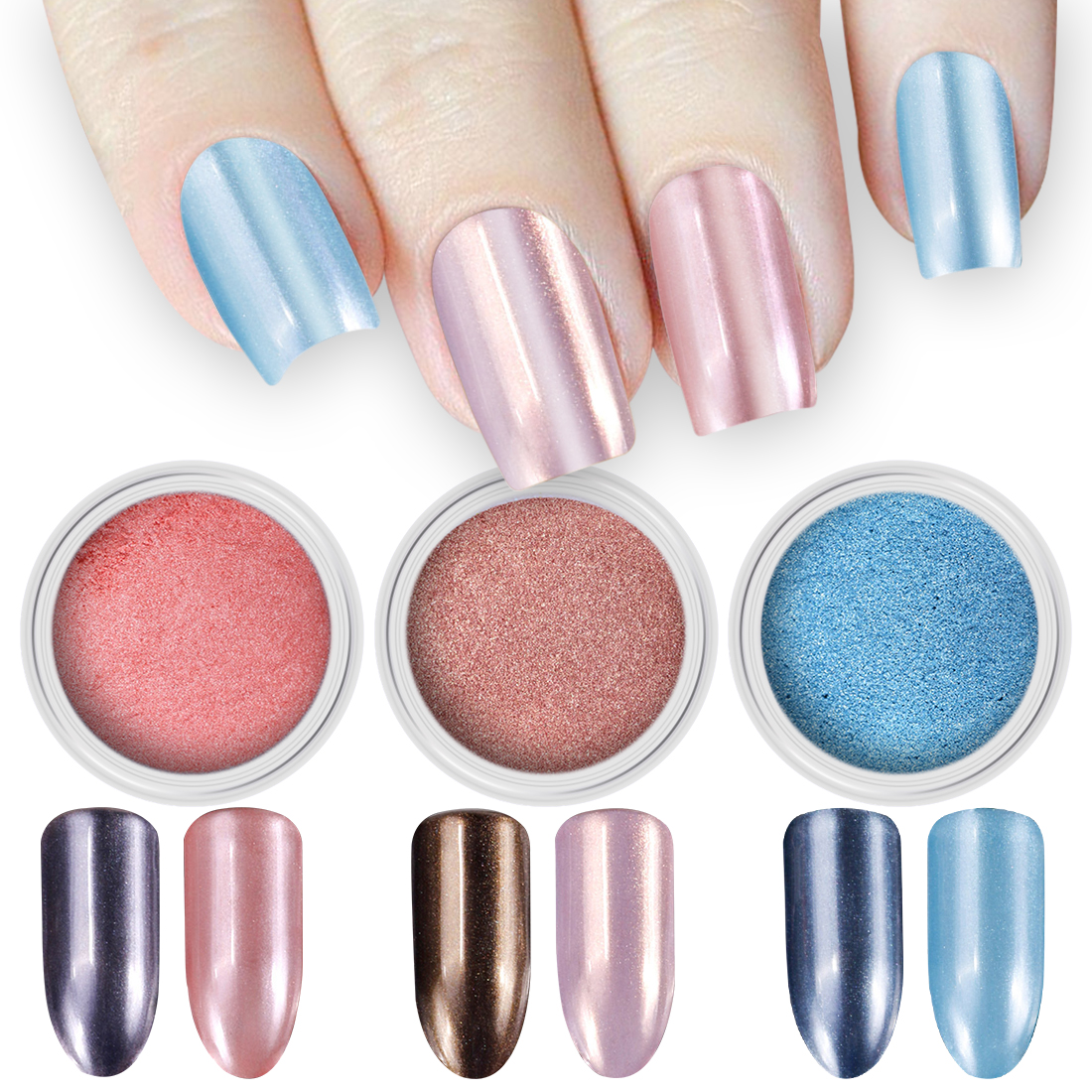 Diamond Pearl Powder 2g/Box Pink Blue Rose Red Colors Shimmer ...
